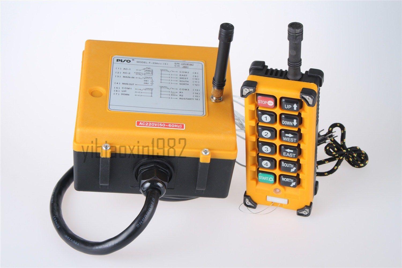 F23-A++ 1 Emitter +1 Receiver Hoist Crane Radio Wireless Remote Control Industrial AC220V/AC36V/AC380V  DC12V/DC24V industrial hoist crane wireless remote control f21 e1 2transmitter 1receiver ac dc 65v 440v