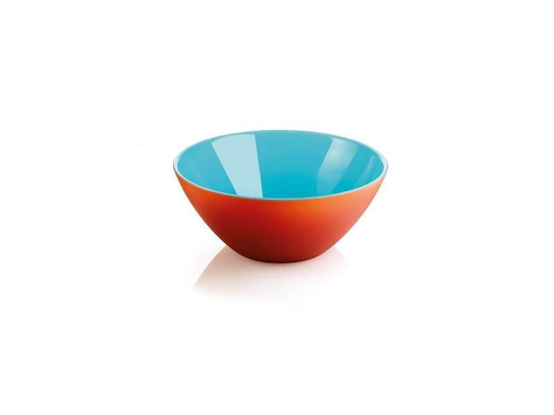 Салатница guzzini, My Fusion, 20 см, красный-голубой цена и фото
