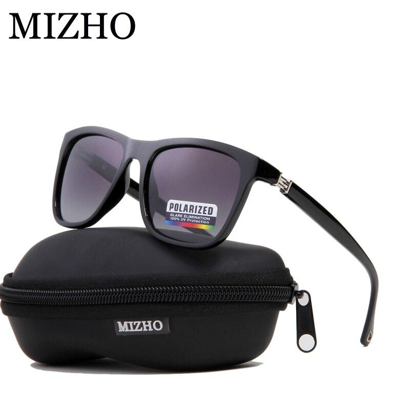 MIZHO Plástico Marca Retro Quadrados Óculos Polarizados Homens Moda Eyewear  UV400 Unidades de Viagem Viajar Óculos f2d343daab