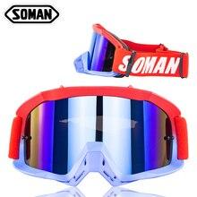 Очки для мотокросса, мотоциклетные очки, Мото очки для велосипеда Gafas MX Gozluk Off Road Olulos Dirt Bike Okulary очки для квадроцикла SOMAN SM16