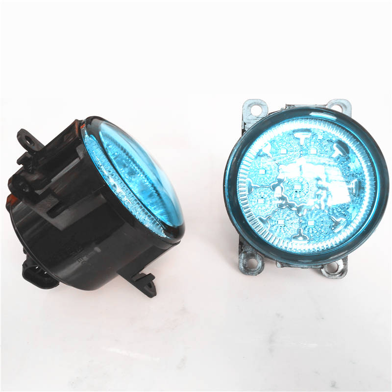 For Peugeot 207 307 407 607 3008 SW CC VAN 2000-2013 Car Styling Led Fog Lights Lamps Modified Blue Crystal Blue 12V front fog lights for peugeot 207 307 407 607 3008 sw auto right left lamp car styling h11 halogen light 12v 55w bulb assembly