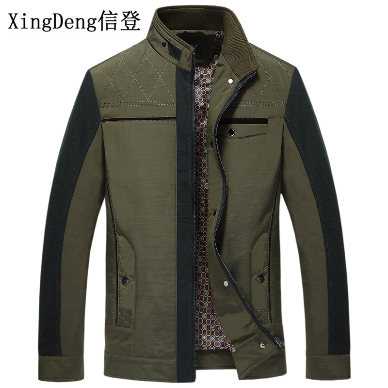 XingDeng Cotton Banded Jacket Thicken Clothing Warm Causal Fashion Winter Jackets Men Parkas Collar Male Top Overcoat