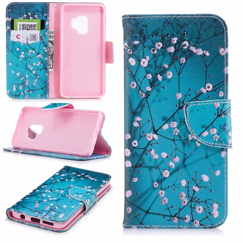 Untuk huawei honor 6x case magnetic balik dompet kulit painted case - Aksesori dan suku cadang ponsel - Foto 2