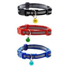 Pet Collar Dog Collar Cute Cat Puppy Collar Reflective Adjustable Dog Pet Collar with Bell