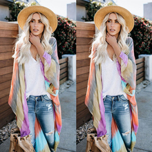 2019 Summer New Fashion Colorful Beach Holiday Cardigan Women Ponchos And Capes G0615