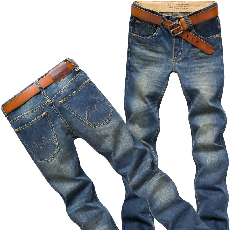 ФОТО Sales Promotion!the New Men's Jeans Cotton Cultivate One's Morality Leisure Trousers High Quality Jeans Men's Brand Of Jeans