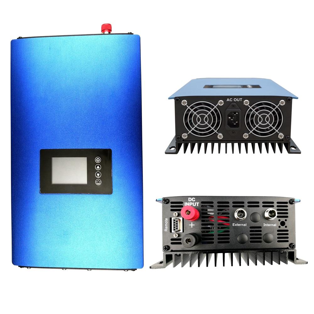 цена на LCD Solar Grid Tie inverter 1000W,MPPT pure sine wave on grid inverter DC22-65V or 45-90V to 110V/ 230V AC low battery cut off