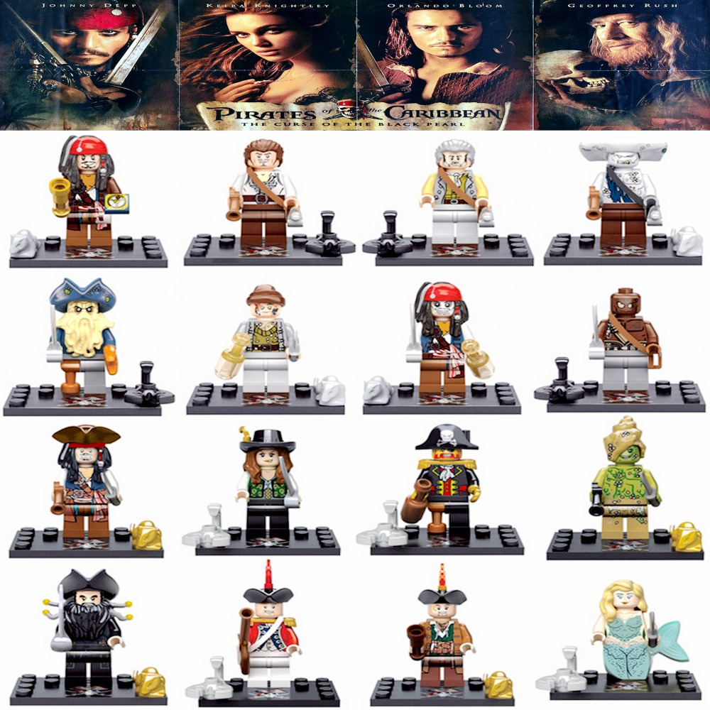 88516825168e5 Detail Feedback Questions about Legoing Pirates Of The Caribbean Figures  Blocks Jack Sparrow Elizabeth Mermaid Barbosa Legoings Figures Bricks Toys  For ...