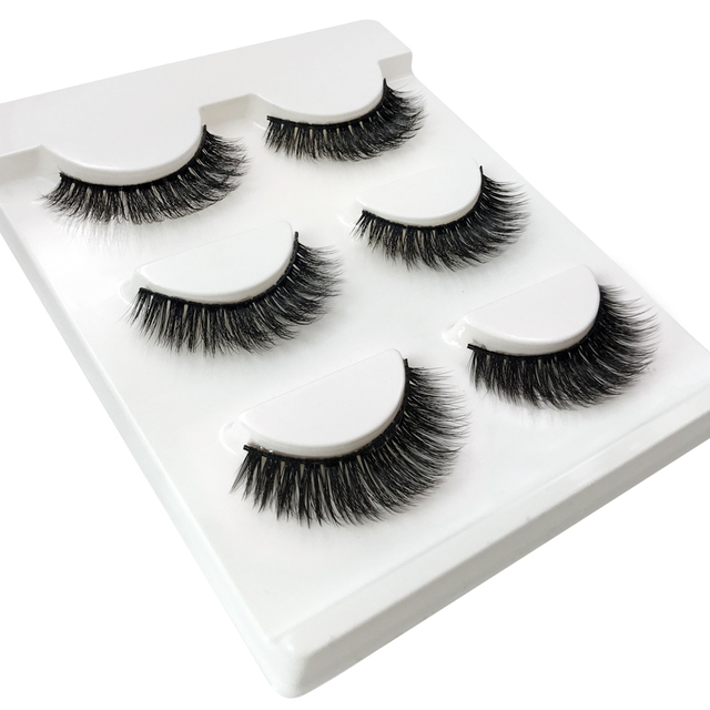 3 Pairs natural false eyelashes thick makeup real 3d mink lashes soft eyelash extension fake eye lashes long mink eyelashes 3d 3