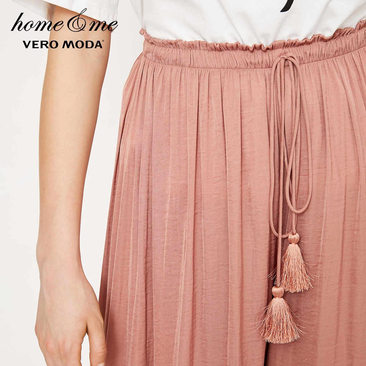 Vero Moda женские новые талии декоративные три четверти широкие повседневные брюки | 3182P7501
