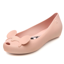 Melissa Shoes Women Mickey Style Flat Sandals Brand Adulto For Jelly Female Mulher