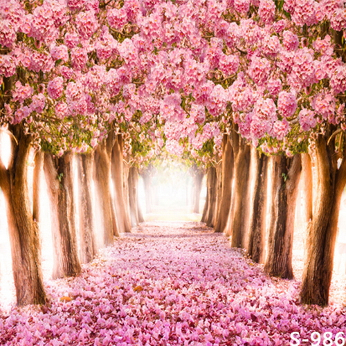 Wedding Flower Background: 8x8FT Pink Flowers Tree Tunnel Floral Floor Garden Love