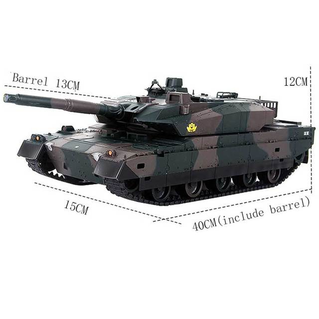 Rechargeable Remote Control Tank 40CM Camouflage RC Tank 1/20 9CH 27Mhz Infrared Electric Toys For Children Boys Birthday Gifts  2