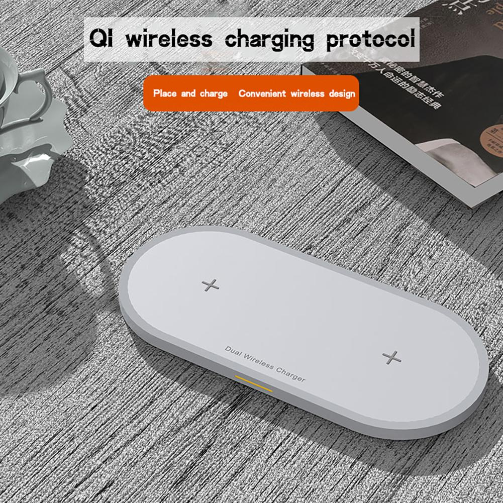 Image 5 - 2 in 1 Mobile Phone & Earphone Wireless Fast Charger Anti slip Wireless Charging Adapter for iPhone AirPods Air Pods-in Mobile Phone Chargers from Cellphones & Telecommunications