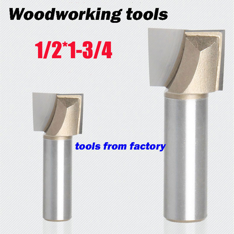 1pc wooden router bits 1/2*1-3/4 CNC woodworking milling cutter woodwork carving tool 1/2 SHK free shipping 10pcs 6x25mm one flute spiral cutter cnc router bits engraving tool bits cutting tools wood router bits