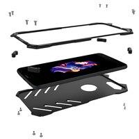 Phone Case For Oneplus 5 A5000 Luxury Metal Aluminum Bumper Back Cover Armor Black Hard Slim