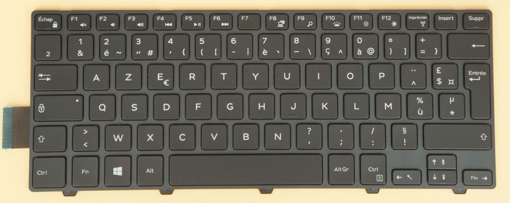 New notebook Laptop keyboard for Dell Inspiron 5451 5455 5458 7447 french/fr  layout new notebook laptop keyboard for dell latitude e5420 e5430 e6220 e6230 brazil layout