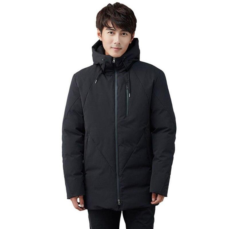 Winter New Men's Coat Thicken Hooded Medium Long Windbreaker Heated Wadded Jacket Outdoor Sport Skiing Climbing Hiking Jackets