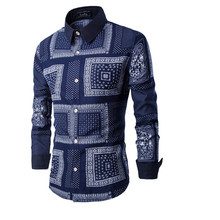 2016 New Males's Trend The New Garments Informal Basic Plaid Meth Lengthy-sleeved Gown Shirt Promoting Excessive High quality Mens Shirts Males