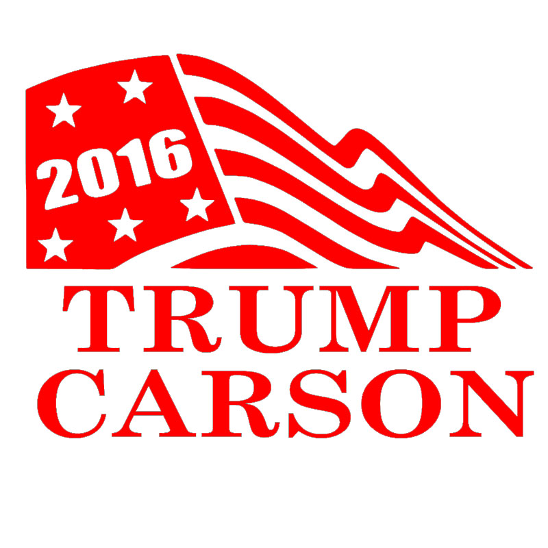 2016 font b Trump b font Carson Waving Flag Funny Car Sticker for Motorhome Camper Van