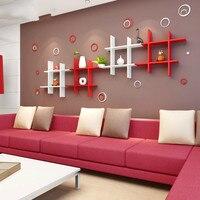 Краски настенного монтажа Подставка для подвешивания на стену гостиной диафрагмы ТВ фоне стены декоративная подставка креативная книжная ...