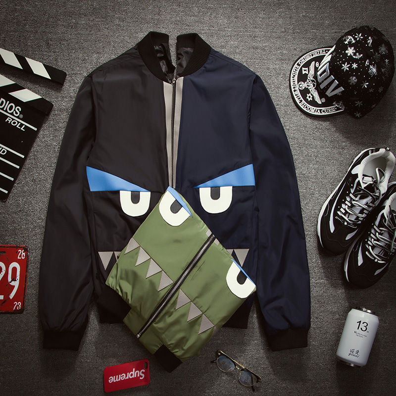 Men's Bomber  Coat  Mens Hip Pop Jacket Pilot Bomber Jackets Size 3XL