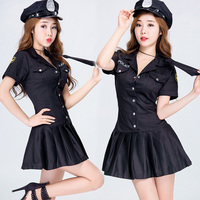 2018 DS New Sexy Nightclub Bar Leading Dance Costume Nightclub Stage Performance Suit Policewoman Role Play
