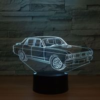 3D LED Classic Toy Interior Decoration Model Of Classic Car Model LED Ornaments Gift Collection K1376