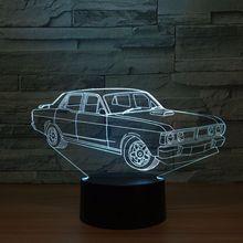 3D светодиодный Классические игрушки интерьера Модель классическая модель автомобиля светодиодный Украшения подарок коллекция k1376