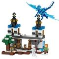 Lele minecraft 548 unids building blocks figuras juguetes mundo azul cielo dragón castillo
