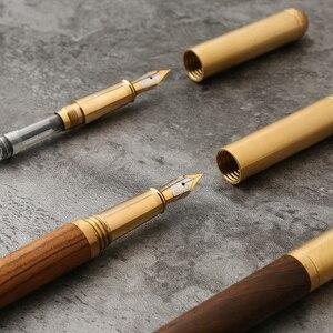 Роскошные классические металлические деревянные авторучки 0,7 мм изящные ручки каллиграфии канцелярские принадлежности для офиса и школы