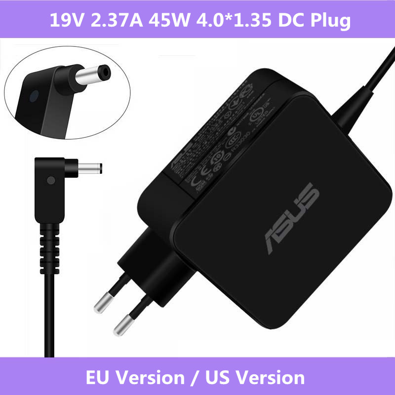 19V 2.37A 45W 4.0x1.35mm AC Power Charger Adapter For Asus UX305 UX21A UX32A Asus X553 X553M X553MA X553S X553SA Taichi 21 31