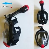 Panoramic Free Breath Snorkeling Full Face Diving Mask Swim Mask 180 Degree Snorkel Mask