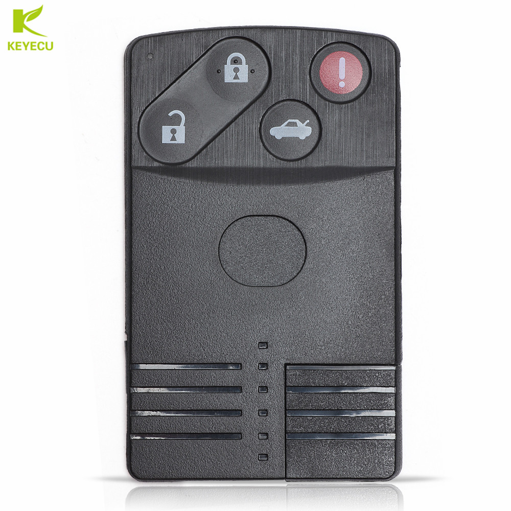 4 Button Smart Replacement Remote Key Shell Case Fob for Mazda 3 5 6 CX-7 CX-9