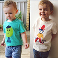 2016 Baby Summer Boys Girls Short Sleeve T Shirts Choses Bobo Children Cartoon Printing Cotton Tee Tops Kids Costume Clothing