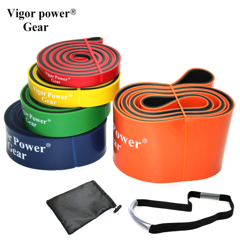 5pcs/Set Dual Color Resistance Bands Pull Up Fitness Band Loop for Pull-ups Strength Weight lifting Free bag and utility straps 2016 set of 3 latex exercise resistance bands loop fitness power lifting pull up bands strengthen muscles bands