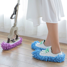 где купить New Fashion Single Chenille Mop Wipe Slippers Shoes Lazy Shoe Covers Clean Slippers Mop Caps Set House Bathroom Floor Lazy Wipe дешево