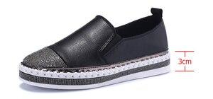Image 4 - 2019 נשים של נעלי בד דירות נעלי עור אמיתי נעלי מוקסינים לנשים קריסטל אופנה תלמיד דייג הנעלה נעליים