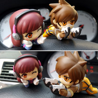 Mr.Froger Tracer Figure Over D.Va LENA Action Figure Toys Chibi Dolls Game PVC Kids Games Figura POP Cute Watches Anime Figurine