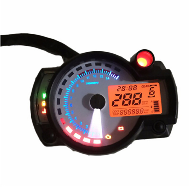 299 MPH/KPH White panel Adjustable Motorcycle digital speedometer digital Odometer Universal for all motorcycle easy install
