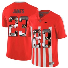 2016 NIKE Jersey Ohio State Buckeyes Lebron James 23 CollegeIce Printed Hockey Jerseys Elite Fashion Player Jersey - Scarlet(China)