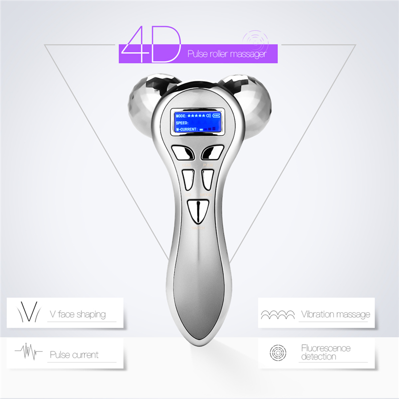 4D V Face Ball Roller Face Massager Facial Skin Lifting Firming Full Body Slimming Wrinkle Removal