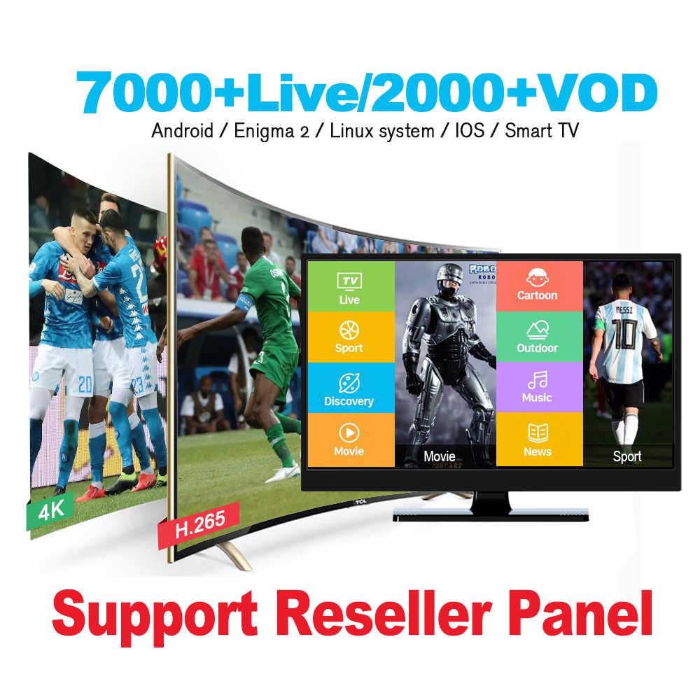 IPTV M3U Smarters Berlangganan untuk Android TV Box 7000 + Hidup 2000 + VOD Bahasa Arab/Perancis/Inggris/ jerman/Kanada MAG M3U Enigmas2 Replay