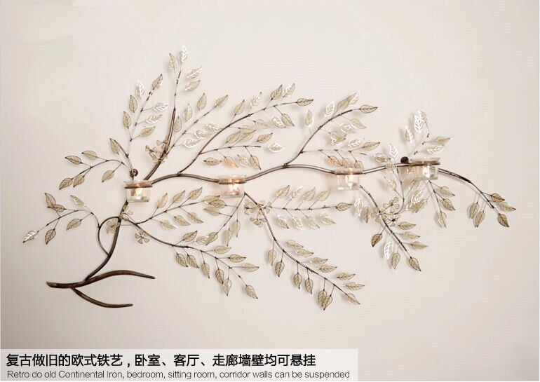 Large Metal Leaf Wall Decor Mesmerizing Modern Home Decoration Creative Metal Wall Art Handmade Branch And Decorating Inspiration