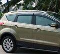 4 pcs Chrome Door Janela Sol Viseira Defletores de Chuva Escudo Tampa Guarnição Para Ford Escape/Kuga 2013 2014 2015