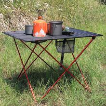 328 プロモーションポータブル折りたたみ折りたたみテーブルデスクキャンプ屋外ピクニック 6061 アルミ合金超軽量
