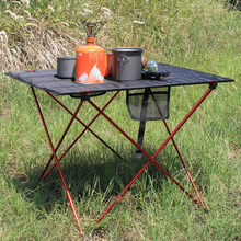 328 Promotion Portable pliable Table pliante bureau Camping pique nique en plein air 6061 alliage daluminium Ultra léger