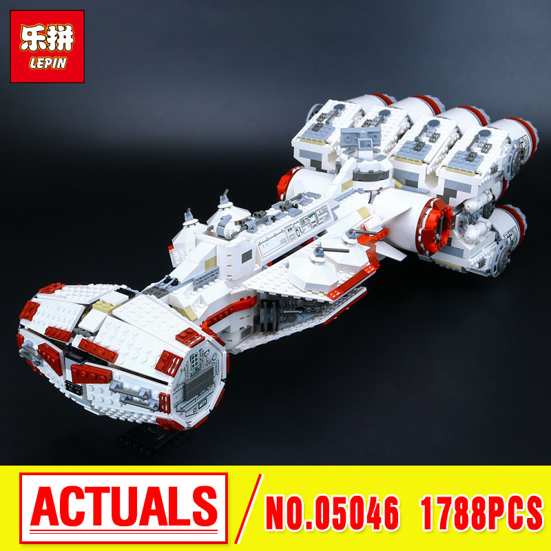 New LEPIN 05046 1788Pcs Star Tantive IV Re Blockade bel Runner Model Building Block Brick birthday christmas Gift 10019 Toy War new military series world war ii germany panzer iv tank building brick block toys compatible with lepin