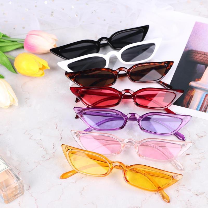 Women Cat Eye Sunglasses Small Frame Retro Travel Casual Cute Sexy Designer Vintage Shades Sun Glasses UV400 Fashion Lady