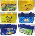 Pokemon Pikachu Reusable Shopping Zipper Bag Shopper Canvas School Students Tote Bag Gift